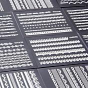 5ks 3d krajkové designu Nail Art samolepky květ manikúra nehty obtisky