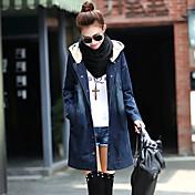 Sexy / Ležérní / Práce kulatý tvar - Dlouhé rukávy - ŽENY - Coats & Jackets ( Džínovina )
