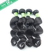 Tejidos Humanos Cabello Cabello Hindú Ondulado Amplio 4 Piezas los tejidos de pelo