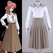 に触発さ 美少女戦士セーラームーン Sailor Jupiter アニメ系 コスプレ衣装 コスプレスーツ パッチワーク 上着 スカート 用途 女性用