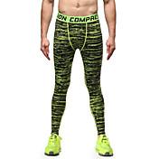Vansydical® Hombre Pantalones ajustados de running Secado rápido Transpirable Materiales Ligeros Medias/Mallas Largas