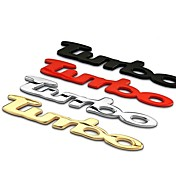decoración estilo turbo coche cola del coche etiqueta engomada del coche 3d emblemas decoración pegatinas de alta calidad