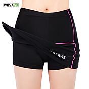 WOSAWE Falda de Ciclismo Mujer Bicicleta Vestidos y faldas Pantalones Cortos Acolchados Prendas de abajoTranspirable Diseño Anatómico