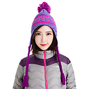 nieve hizo punto el sombrero de invierno snowboard gorrita tejida caliente de los sombreros de las mujeres Makino 0113