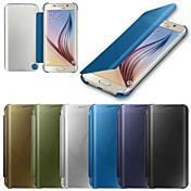For Samsung Galaxy etui Etuier Auto Sluk Spejl Flip Heldækkende Etui Helfarve PC for Samsung S6 edge plus S6 edge S6
