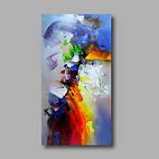 Pintada a mano Abstracto Vertical,Modern Un Panel Lienzos Pintura al óleo pintada a colgar For Decoración hogareña
