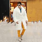 Muži Jednobarevné Kožich-Umělá kožešina Liška Zima Dlouhý rukáv