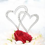 Decoración de Pasteles No personalizado Corazones Cromo Matrimonio / Aniversario Diamantes Sintéticos PlataTema Playa / Tema Clásico /