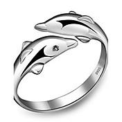 指輪 調整可能 パーティー / 日常 / カジュアル ジュエリー 純銀製 女性 バンドリング 1セット,調整可