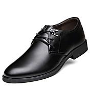Hombre Zapatos Cuero Primavera Verano Otoño Invierno Confort Botas de Moda Oxfords Paseo Volantes Con Cordón Para Casual Fiesta y Noche