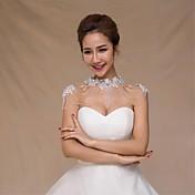 結婚式のラップ カラー ノースリーブ スパンコール 結婚式 クリスタル アップリケ 真珠