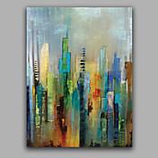 Pintada a mano Abstracto Vertical,Estilo europeo Un Panel Lienzos Pintura al óleo pintada a colgar For Decoración hogareña
