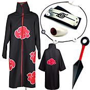 Inspirado por Naruto Itachi Uchiha Animé Disfraces de cosplay Trajes Cosplay Más Accesorios EstampadoCollar Capa Más Accesorios Arma