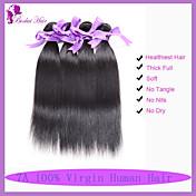 Tejidos Humanos Cabello Cabello Hindú Recto 6 Meses 3 Piezas los tejidos de pelo