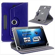 """caja de cuero para la tableta cubierta de cuero de rotación de 360 grados para la tableta androide soporte universal de 7 """"pulgadas"""