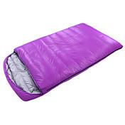 Bolsa de dormir Saco Doble Doble -10℃ Plumón de Pato 1800g 210X120 Interior Mantiene abrigado / De Gran Tamaño CAMEL