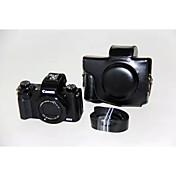 dengpin® pu bolsa de cuero caja de la cámara cubierta con correa para el hombro para Canon Powershot G5 x (colores surtidos)