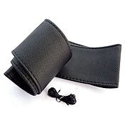 ziqiao univerzální protiskluzová prodyšná PU kůže kutilství auto auto potah na volant pouzdro s jehlami (37 ~ 38 cm)