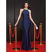 Trompeta / Sirena Joya Hasta el Suelo Jersey Baile de Promoción Evento Formal Vestido con Cuentas por TS Couture®