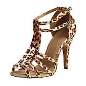 Zapatos de baile (Negro / Morado / Leopardo) - Latino / Salsa / Samba - Personalizables - Tacón Personalizado