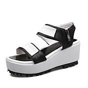 Ženske Sandale Ljeto Tenisice platforme Udobne cipele PU Ležeran Atletika Puna potpetica Kopča Crn Pink Hodanje