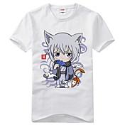 に触発さ 神様はじめました Tomoe アニメ系 コスプレ衣装 コスプレTシャツ プリント ブラック ショート Tシャツ(21)