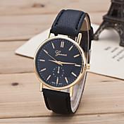 Mujer Reloj de Moda Reloj Casual Cuarzo Piel Banda Negro Marrón Blanco Negro Amarillo