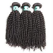 Cabello humano Cabello Brasileño Tejidos Humanos Cabello Rizado rizado Ondulado Extensiones de cabello 3 Piezas Negro