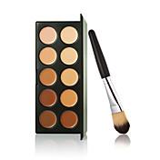 Nový 10 barev obrys krém na obličej make-up korektor paleta + prášek kartáč