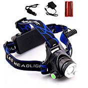 LS1791 Linternas de Cabeza LED 2000 Lumens 3 Modo Cree XM-L T6 2 x Pilas 18650 Enfoque Ajustable Resistente a Golpes Recargable