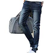 Pantalón De los hombres Casual Un Color-Algodón-Sin Mangas