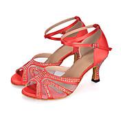 Zapatos de baile(Negro / Azul / Morado / Rojo) -Danza del Vientre / Latino / Jazz / Moderno / Samba / Zapatos de Swing-Personalizables-
