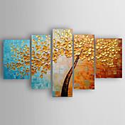 Ručně malované Krajina Abstraktní krajinka jakýkoliv tvar,Moderní Pět panelů Plátno Hang-malované olejomalba For Home dekorace