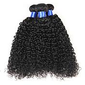 Cabello humano Cabello Brasileño Tejidos Humanos Cabello Ondulado Grande Extensiones de cabello 4 Piezas Color natural