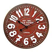 vintag de estilo europeo de madera del reloj de pared de silencio