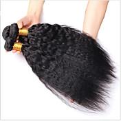 人間の髪編む モンゴリアンヘア Kinky Curly 3個 ヘア織り