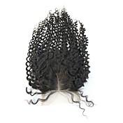 ブラジルの髪変態カーリー3.5x4インチスイスレース閉鎖中段無料一部閉鎖