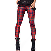 Damer Ensfarvet Legging,Polyester Spandex Normal