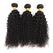 Lidské vlasy Vazby Brazilské vlasy Kinky Curly 3 kusy Vazby na vlasy