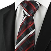 Hombre Corbata Vintage / Bonito / Fiesta / Trabajo / Casual-Rayón / Algodón / Poliéster Escocés Todas las Temporadas
