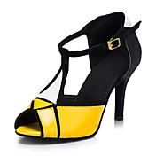 Zapatos de baile (Amarillo) - Danza latina - Personalizados - Tacón Personalizado