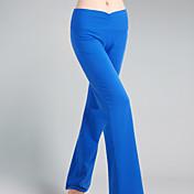 Pantalones de yoga Pantalones/Sobrepantalón Transpirable Reductor del Sudor Cintura Media Eslático Ropa deportiva Negro Azul MujerYoga