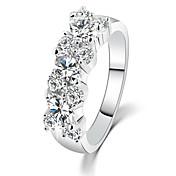指輪 女性用 ラインストーン 合金 合金 6 / 7 / 8 / 9 銀 装飾物のカラーは画像をご参照ください.