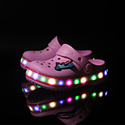 Para Niño-Tacón Plano-Plataforma Confort Light Up Zapatos-Zapatillas y flip-flop-Exterior Informal-Sintético-Azul Rosa Verde Claro