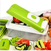 1 Pças. Apple Cenoura Laranja Cebola Pepino tomate Cortador e Fatiador For Fruta Vegetais Aço InoxidávelMultifunções Alta qualidade