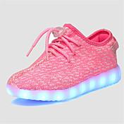 Para Niña-Tacón Plano-Confort Light Up Zapatos-Zapatillas de deporte-Informal-Tul-Negro Rosa Gris Azul Real