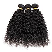 自然な色の髪の織物ペルーのテクスチャの変態の縮毛6ヶ月3個の髪の織り