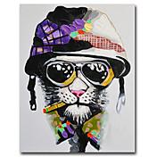 手描きの 動物 Modern,1枚 キャンバス ハング塗装油絵