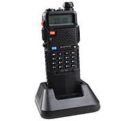 BaoFeng UV-5R-5W+3800L-black Walkie Talkie 4W / 1W (Max 5W) 128 136-174MHz / 400-520MHz 3800mAh 3KM-5KMRadio FM / Alarma de Emergencia /