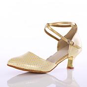 Zapatos de baile(Azul / Rosa / Oro) -Latino-Personalizables-Tacón Personalizado